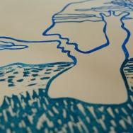 Le baiser, gravure par Elsa Lecomte